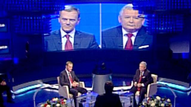 Kaczyński: Pan jest chory na władzę Tusk: Pan dla niej zrobi wszystko