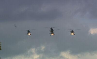 Przelot śmigłowców W-3 Sokół, Mi-24 i Mi-8