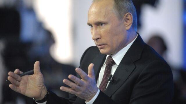 """Krymska euforia, """"troska"""" o Ukrainę. Telemost Putina: 10 głównych punktów"""