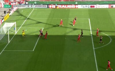 Puchar Niemiec. Norderstedt - Bayer Leverkusen 0:2 i 0:3. Gole Nadiem Amiri i Lucas Alario