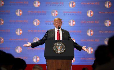 Donald Trump w wywiadzie o szczycie z Kim Dzong Unem