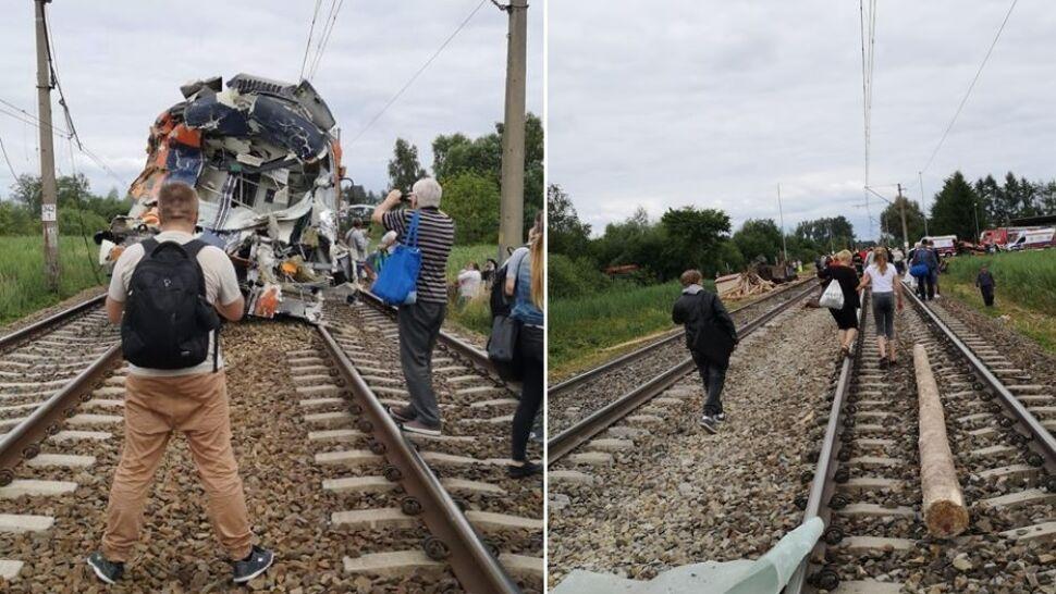 Ciężarówka wjechała pod pociąg.  Ruch przywrócono, ale jednym torem