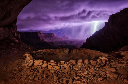 2. miejsce - Thunderstorm at False Kiva