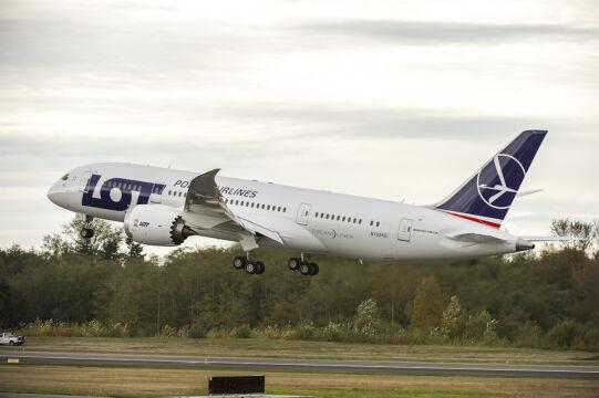 Samolot odbył krótki lot testowy
