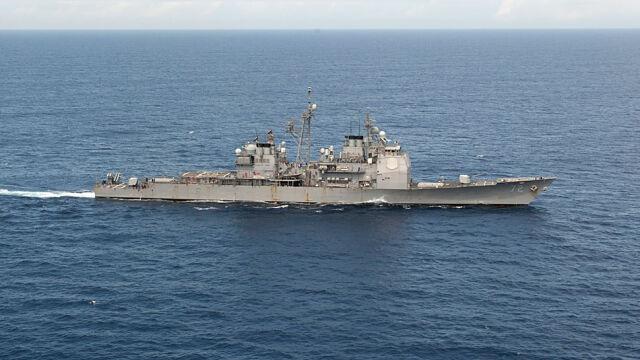 Amerykański krążownik  z Tomahawkami wpływa na Morze Czarne
