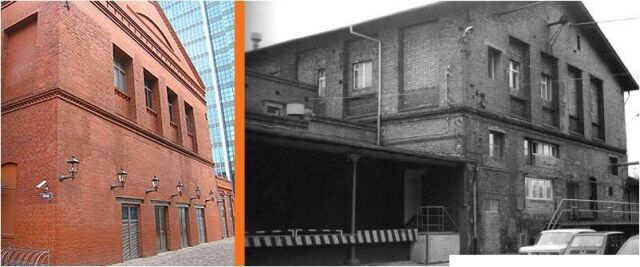 Przy przebudowie Starego Browaru usunięto rampę służąca do rozładunku towarów