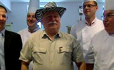 Wizyta kucharzy u Lecha Wałęsy