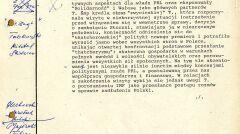 Szyfrogram z Ambasady PRL w Londynie z oceną brytyjskich reakcji na wizytę, 5 listopada 1988 r., strona 1 (AMSZ).