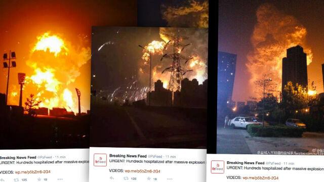 Seria eksplozji i kula ognia. Setki rannych w chińskim porcie