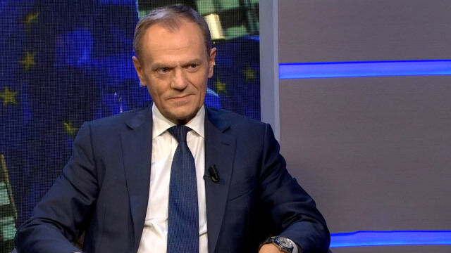 "Donald Tusk was the guest in TVN24's ""Fakty po Faktach"" on Monday"