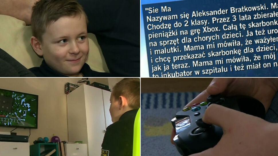 """""""Ja też urodziłem się chory i malutki"""". 8-letni Olek oddał WOŚP swoje 3-letnie oszczędności"""