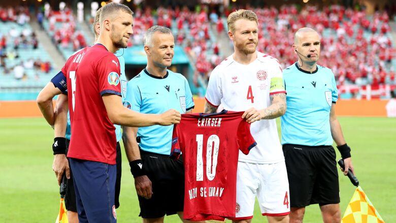 Czesi też pamiętali o Eriksenie. Miły gest przed meczem