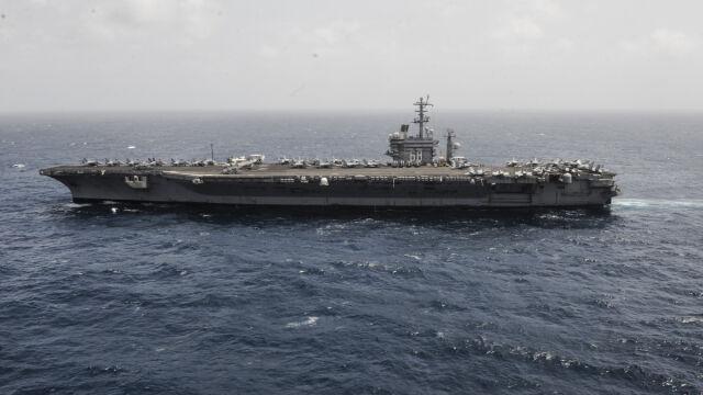 Irańska agencja: lotniskowiec USA oddał strzał w kierunku naszych okrętów