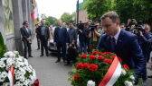 Andrzej Duda złożył kwiaty pod pomnikiem pomordowanych w PRL