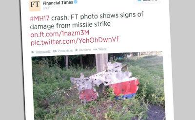 """""""Dziury w elementach wraku wskazują jednoznacznie, że samolot został zestrzelony"""""""