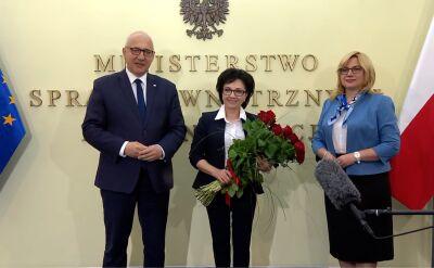 Joachim Brudziński przekazał resort MSWiA Elżbiecie Witek