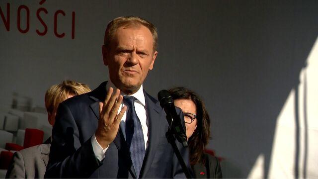 Przemówienie Donalda Tuska podczas wiecu w Gdańsku