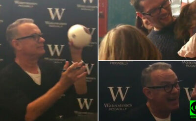 """""""Proszę, przestań płakać"""". Tom Hanks próbuje uspokoić córkę Reportera 24"""