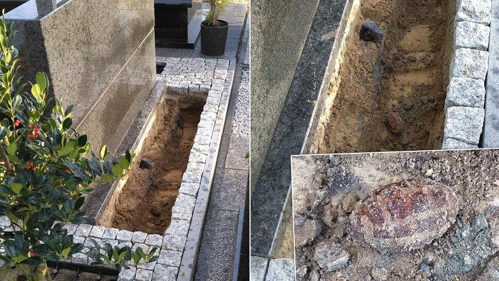 Granat w grobie. Antyterroryści zajęli cmentarz