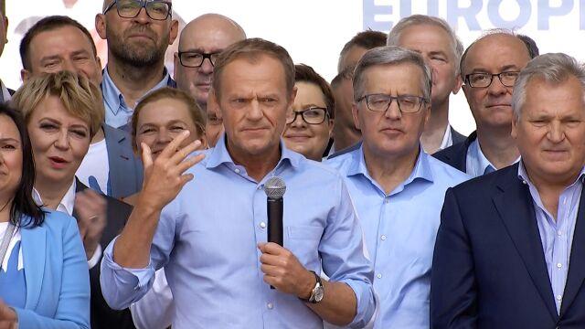 Donald Tusk w Warszawie: odrzućcie strach, jest nas więcej