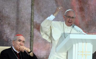 Pierwsza część przemówienia papieża do młodych w Brzegach