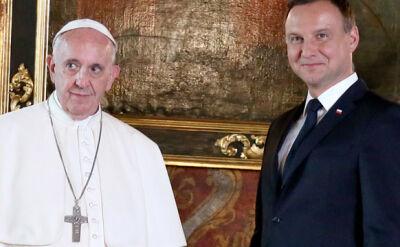 30 minut w cztery oczy. Prezydent zdradza, o czym rozmawiał z papieżem