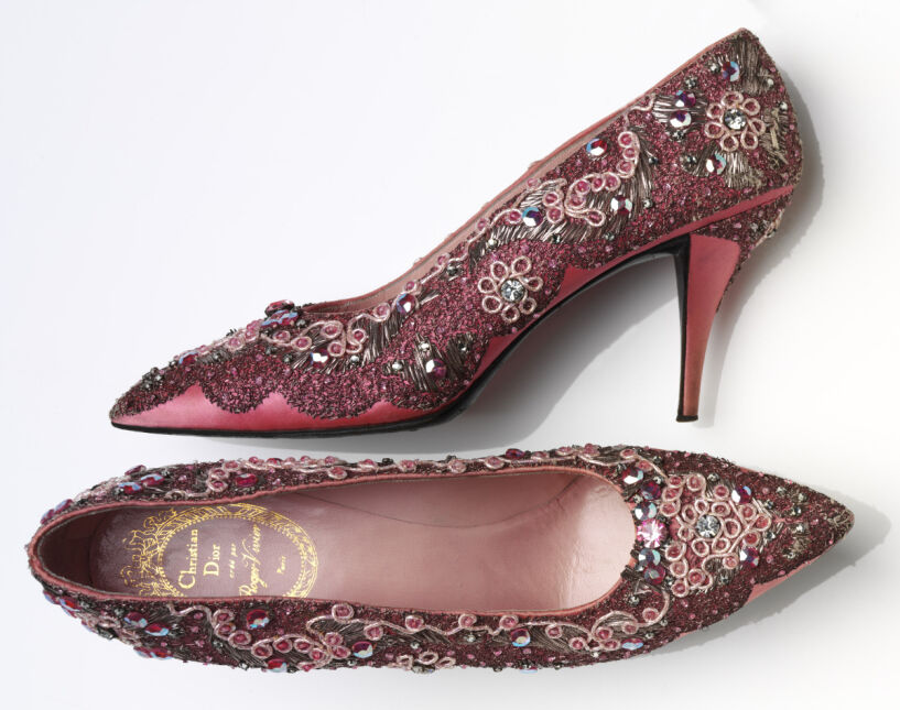 Buty zaprojektowane przez Rogera Viviera dla domu mody Christiana Diora pod koniec lat 50. XX wieku