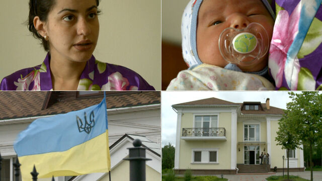 """""""Każdy boi się o życie"""". Uciekła ze wschodu Ukrainy w 9. miesiącu ciąży. Mieszka przy rezydencji Janukowycza"""