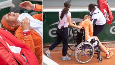 Opuszczała kort na wózku inwalidzkim. Wcześniej rywalka z niej kpiła