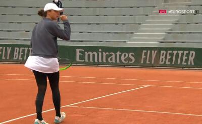 Kapitalna akcja w wykonaniu Świątek w 1. rundzie Roland Garros