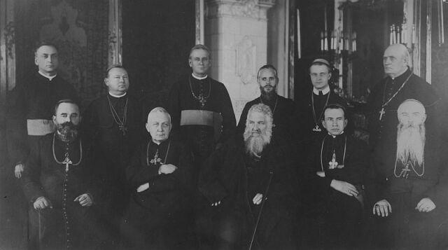 Zjazd biskupów unickich we Lwowie, 1927 r.