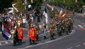 Żołnierze sojuszniczych armii podczas defilady z okazji Święta Wojska Polskiego