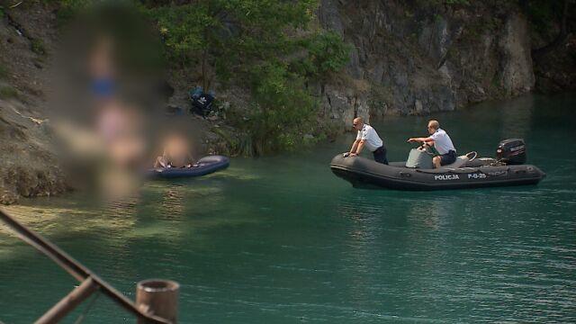 14-latek utonął, policja patroluje dzikie kąpielisko