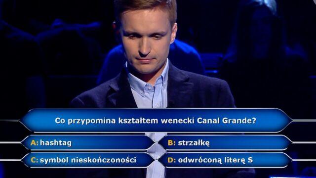 Hasztag, strzałka, nieskończoność, odwrócona litera S? Pytanie za pięć tysięcy złotych