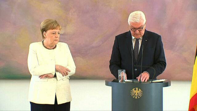 Problemy Merkel na spotkaniu z prezydentem. Kanclerz znów trzęsły się ręce