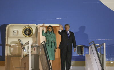 The Air Force One has landed. Donald Trump began his visit to Poland