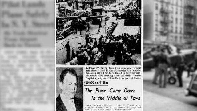 Ukradł samolot i wylądował w centrum Nowego Jorku. Przez zakład