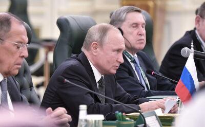Putin podczas spotkania z politykiem prorosyjskiego Ukraińskiego Wyboru Medwedczukiem