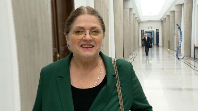 Krystyna Pawłowicz żegna się  z Sejmem.