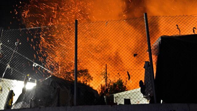 Płonął kolejny przeludniony ośrodek dla uchodźców.