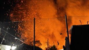 Płonął kolejny ośrodek dla uchodźców