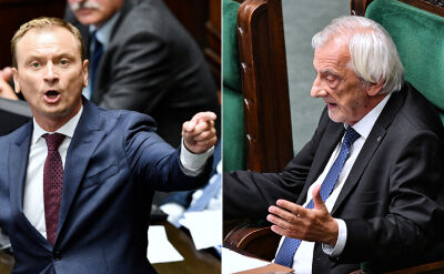 Dyskusja Słowimira Nitrasa i Ryszarda Terleckiego w Sejmie
