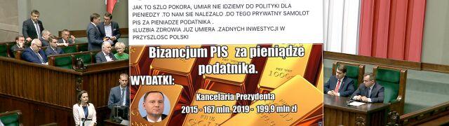 """""""Bizancjum PiS"""" czy """"pokora, umiar""""? Sprawdzamy,  czy wzrosły wydatki instytucji państwowych"""