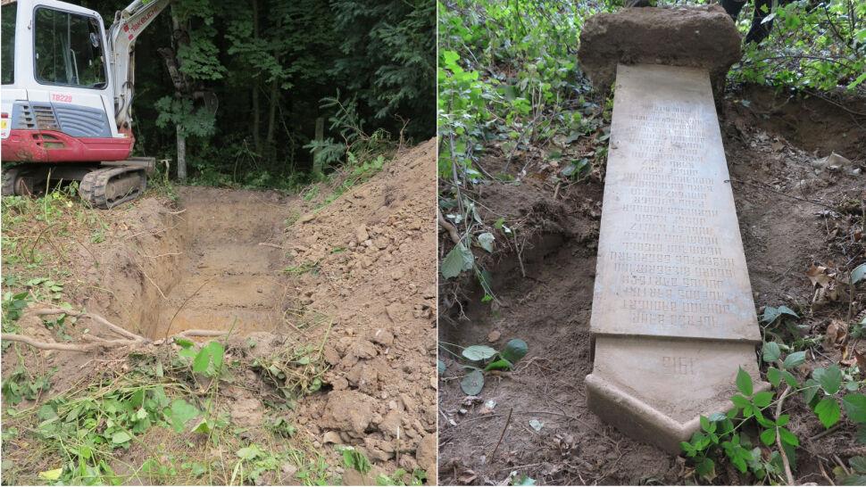 Szukali grobów żołnierzy, znaleźli pomnik z nazwiskami ofiar I wojny światowej