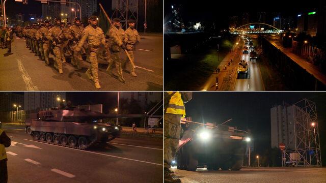 Czołgi, żołnierze i transportery. Nocna próba generalna