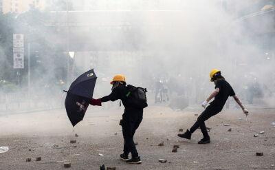 Kolejny dzień demonstracji przeciw Pekinowi w Hongkongu