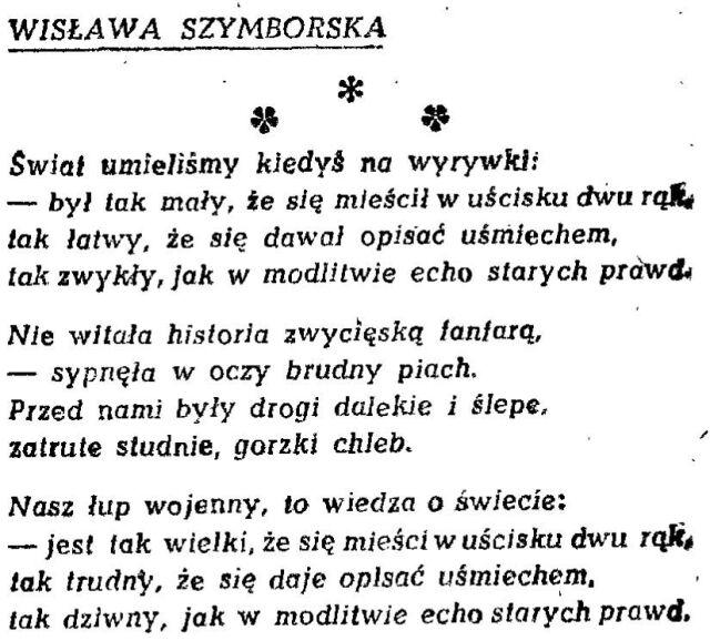 Książka Widmo Szymborskiej Nie Zawsze Udane Początki