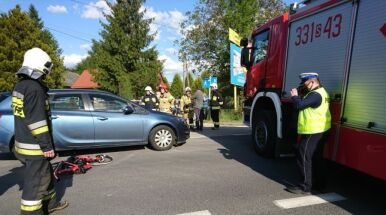 Wypadek kolarek w Wilkowicach. Prokuratura wszczęła śledztwo