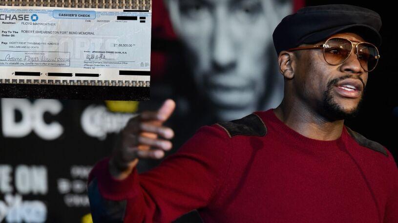 Floyd Mayweather wystawił czek. Chce pokryć koszty pogrzebu George'a Floyda