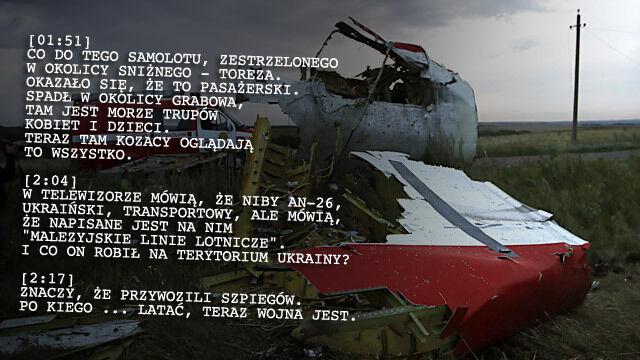 Rozmowa separatystów tuż po katastrofie samolotu